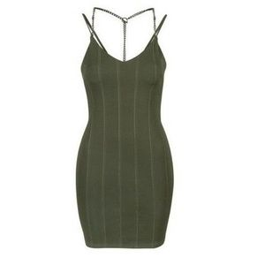 Topshop Chain Strap Dress